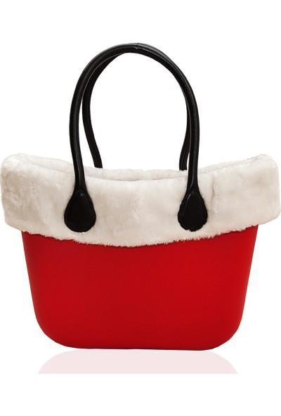 Picco Kullanışlı Kadın El Ve Kol Çantası Kırmızı Polarlı