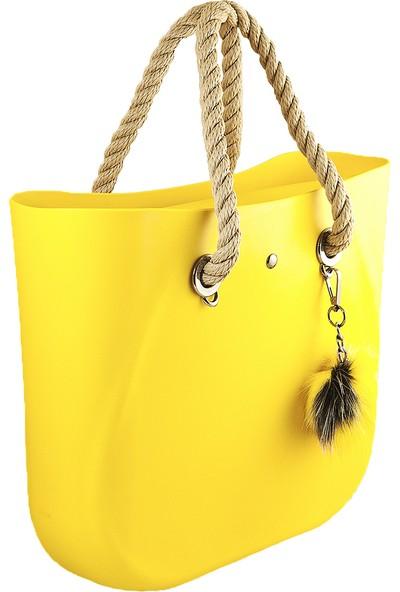 Picco Kullanışlı Kadın El Ve Kol Çantası Sarı