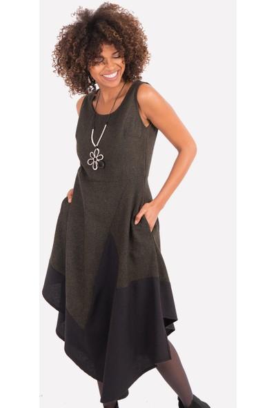 Clandestino Kolsuz Asimetrik Elbise