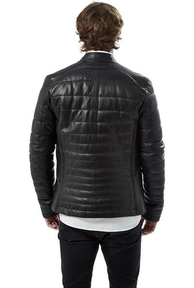 Deriza Carlo Siyah Deri Ceket