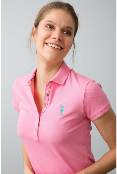 U.S. Polo Assn. Kadın Tp01İy08-011 T-Shirt Fuşya