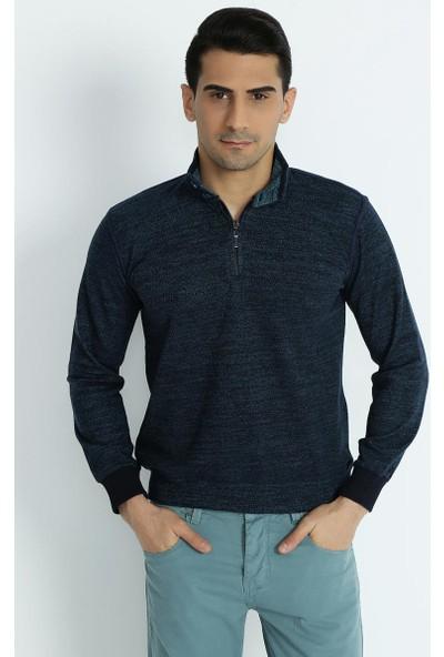 Xint Mcl Polo Yaka Turkuaz Sweatshirt