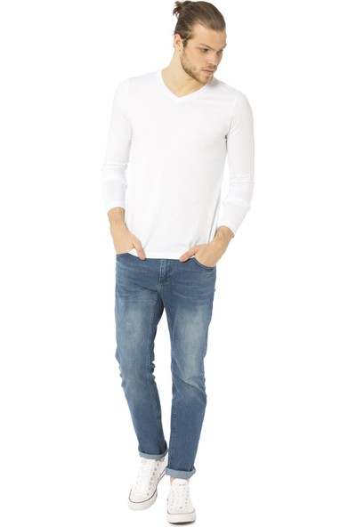 LC Waikiki Erkek V Yaka Uzun Kollu Sweatshirt