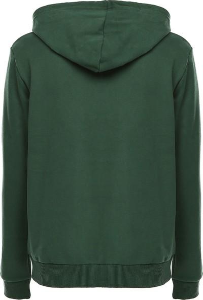 Bonalodi Yeşil King Queen Kapüşonlu Sevgili Çift Sweatshirt