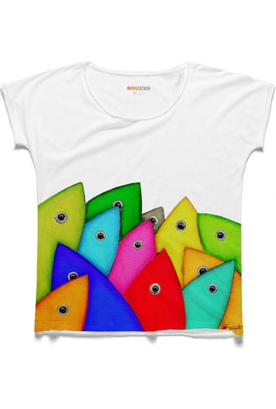 Biggdesign Bereket Balıkları Kadın T-Shirt by Güçlü Kadir Yılmaz