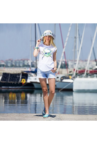 Biggdesign AnemosS Yeşil Yengeç Kadın T-Shirt