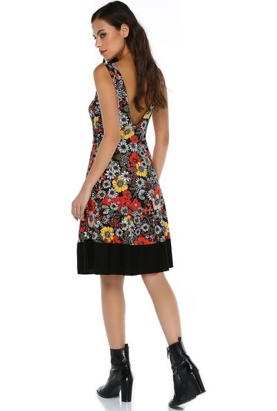 Quincey Kadın Sırt Dekolteli Midi Elbise