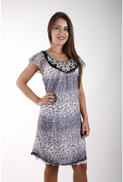 Sude Bayan Şifon Elbise 11135