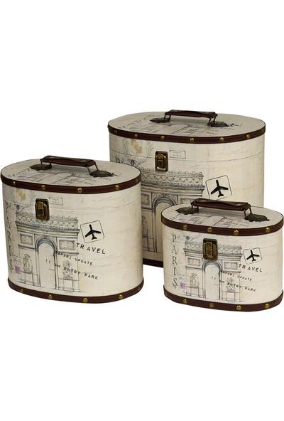 Wenge Home Dekoratif Üçlü Çanta Set