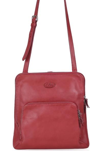 Gön Hakiki Deri Kadın Çapraz Çanta 139 Kırmızı