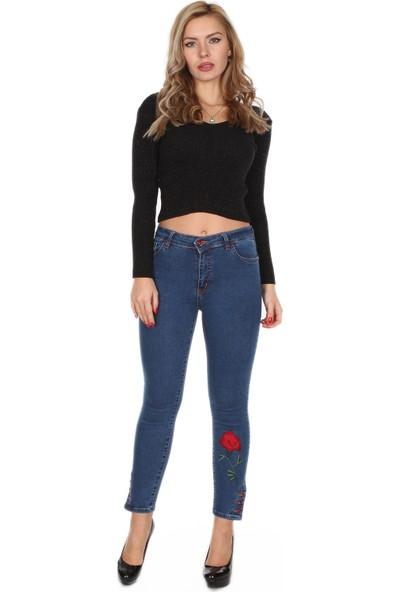 Moda Rota Ynr-509-4001 Paça Ve Düğmeli Bayan Pantolon