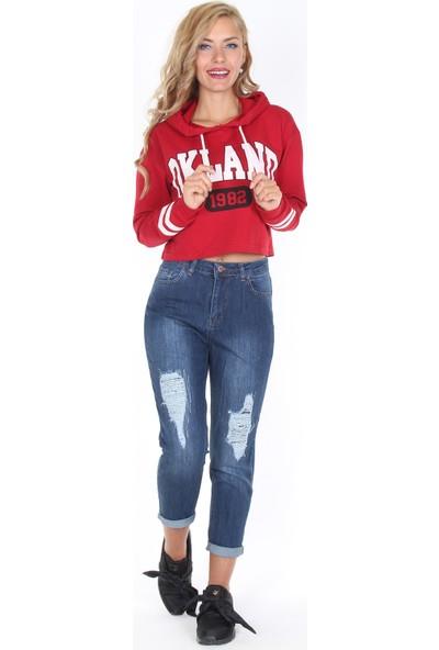 Moda Rota Ynr-536-923 İçten Yamalı Bayan Mom Pantolon