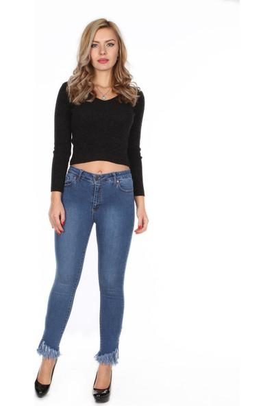 Moda Rota Ynr-571-703 Paça Kuşgözlü Ve Püsküllü Bayan Pantolon