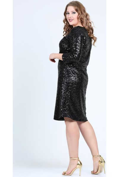 Kl5601H Siyah Abiye Elbise