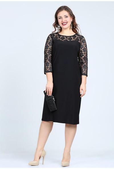 Kl6262 Siyah Abiye Elbise