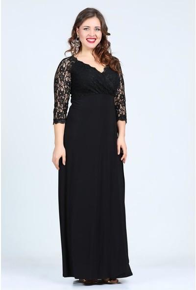 Kl8756 Siyah Abiye Elbise