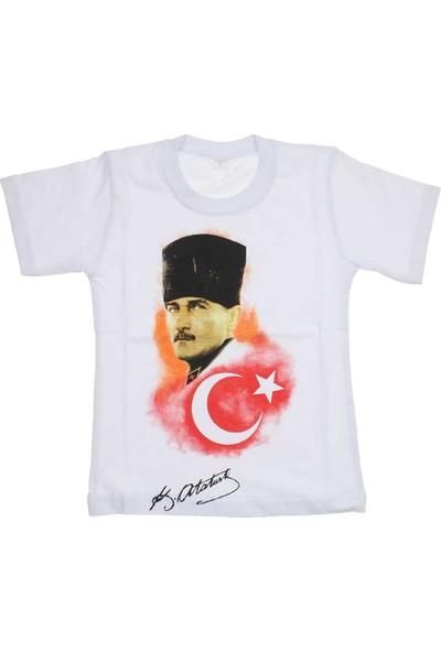 Modakids Atatürk Bayrak Baskılı S - M - L - XL Tshirt 019-1934-027