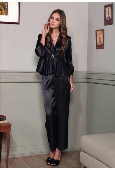 Pierre Cardin Bayan Saten Dantel Pijama Takım 1109