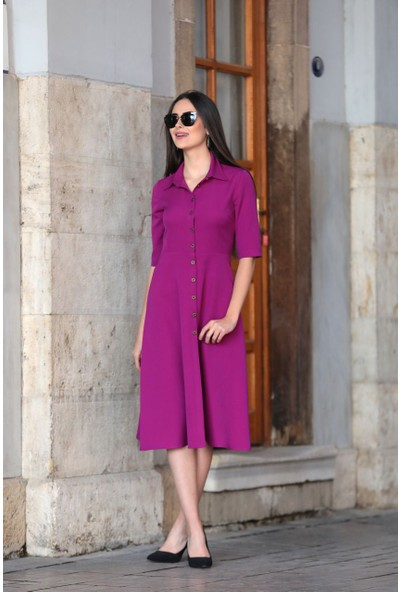 Stil Town Düğmeli Elbise