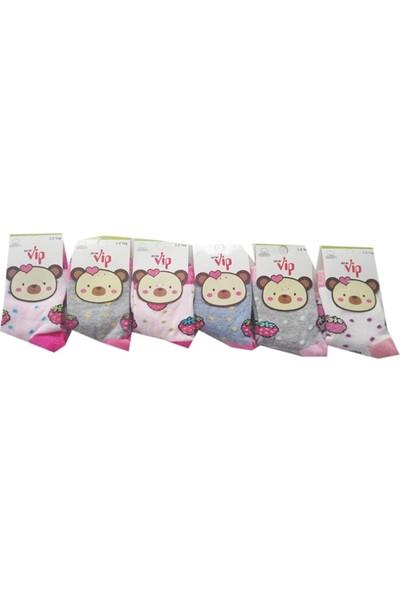 Lababy Renkli Kız Bebek Çorap 6'lı Paket