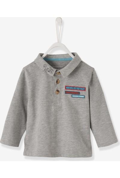 Vertbaudet Erkek Bebek Polo Gri T-Shirt