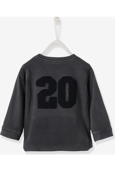 Vertbaudet Erkek Bebek Gri - Mavi T-Shirt