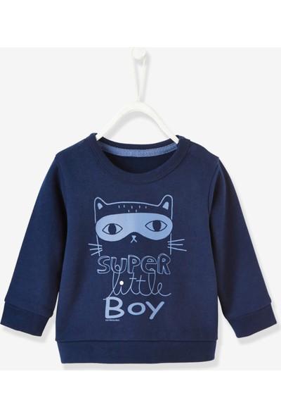 Vertbaudet Erkek Bebek Lacivert Sweatshirt