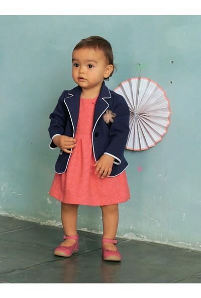 Vertbaudet Kız Bebek Lacivert Ceket