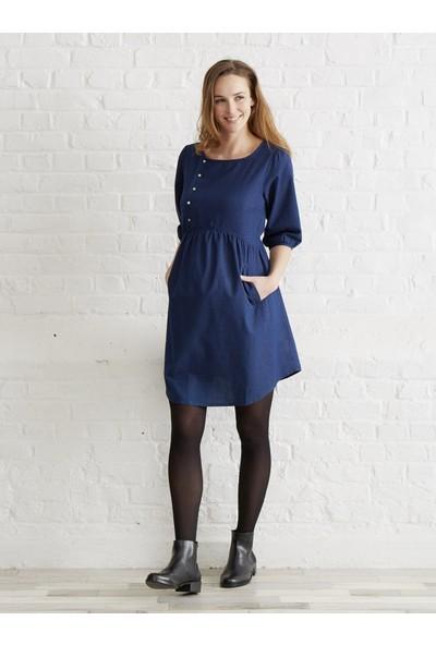 Colline Hamile Lacivert Elbise