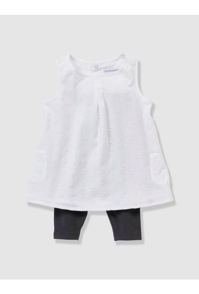 Vertbaudet Kız Bebek Tayt Elbise 2'li Set