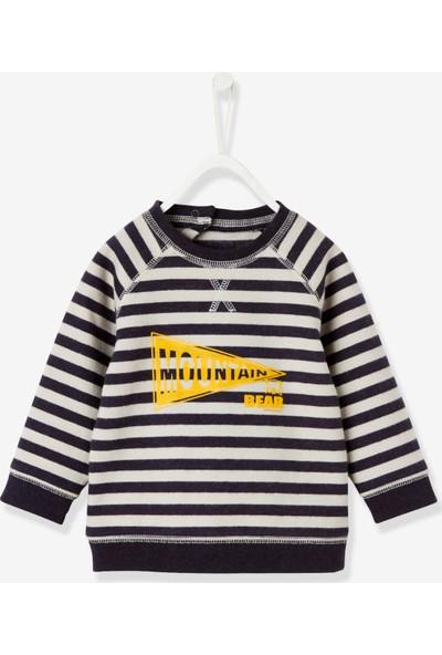 Vertbaudet Erkek Bebek Çizgili Sweatshirt