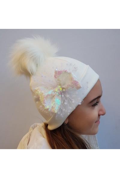 Babygiz Fiyonklu Ponpon Şapka Ns0154