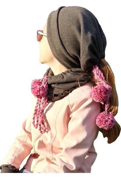 Babygiz Ponponlu Şapka Boyunluk Nsb032