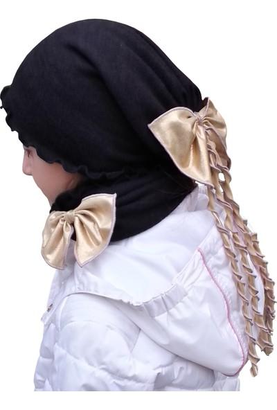 Babygiz Kurdela Aksesuarlı Şapka Boyunluk Nsb033
