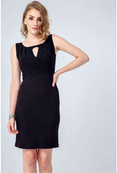 Jument 3958 Siyah Kadın Elbise