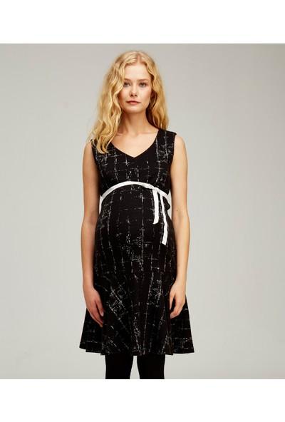Hooyo Emzirme Özellikli Volanlı Hamile Elbisesi Suzie