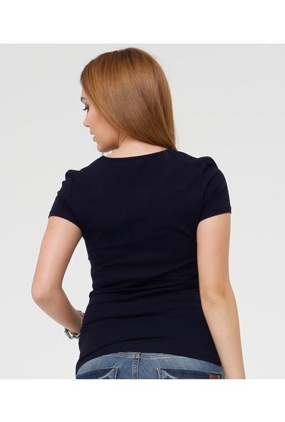 Hooyo Lacivert T-Shirt Olga