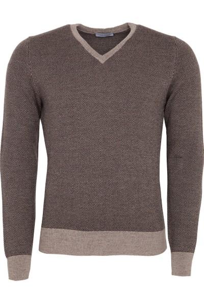 Gran Sasso Erkek Sweatshirt Kahverengi 5715914228