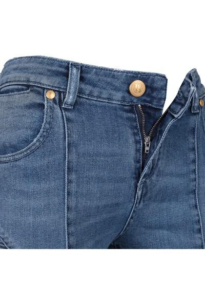 Pierre Balmain Jeans Kadın Kot Pantolon Mavi FP57204JR7250