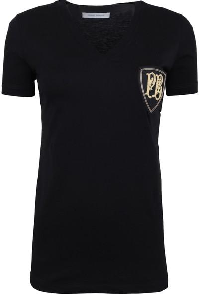 Pierre Balmain Kadın T-Shirt Siyah FP67206TC7285