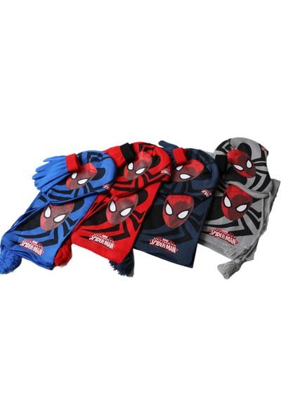 Marvel Spiderman Atkı Bere Eldiven Seti Cap-0147