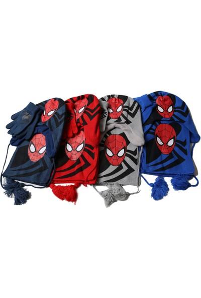Marvel Spiderman Atkı Bere Eldiven Seti Cap-0070