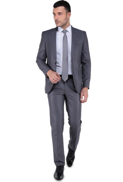 Buenza 6 Drop Dar Kalıp Slim Fit - Erkek Takım Elbise - Koyu Gri