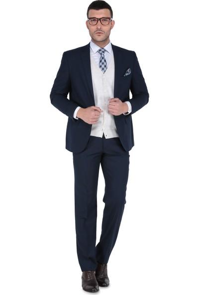 Buenza 6 Drop Klasik Kesim Erkek Takım Elbise - Lacivert