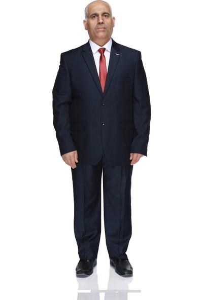 Buenza 120S Büyük Beden Erkek Takım Elbise Lacivert