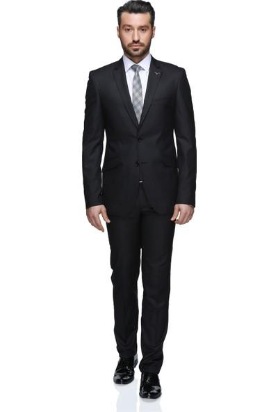 Buenza Totti Mono Tk Yrt 8 Drop Slim Fit Takım Elbise - Siyah