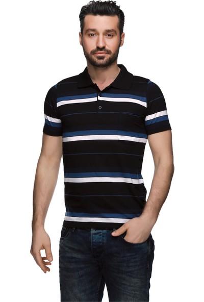 Buenza Psw 14030 Ringel Suprem Polo Yaka Tshirt - Siyah