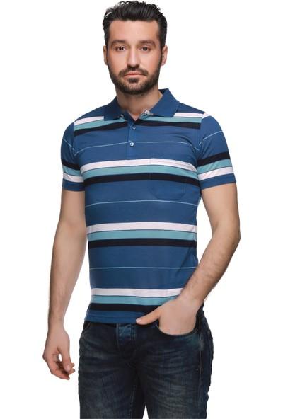 Buenza Psw 14030 Ringel Suprem Polo Yaka Tshirt - İndigo