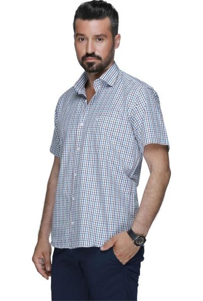 Buenza Plt 58 10 Kısa Kol Gömlek - Kahverengi