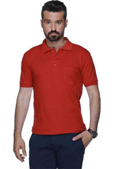 Buenza Alg Polo Yaka Locaste Slimfit Tshirt - Kırmızı